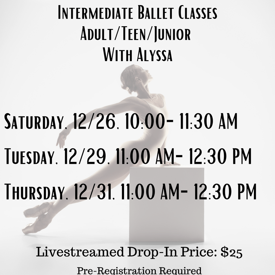 Holiday ballet classes with Alyssa