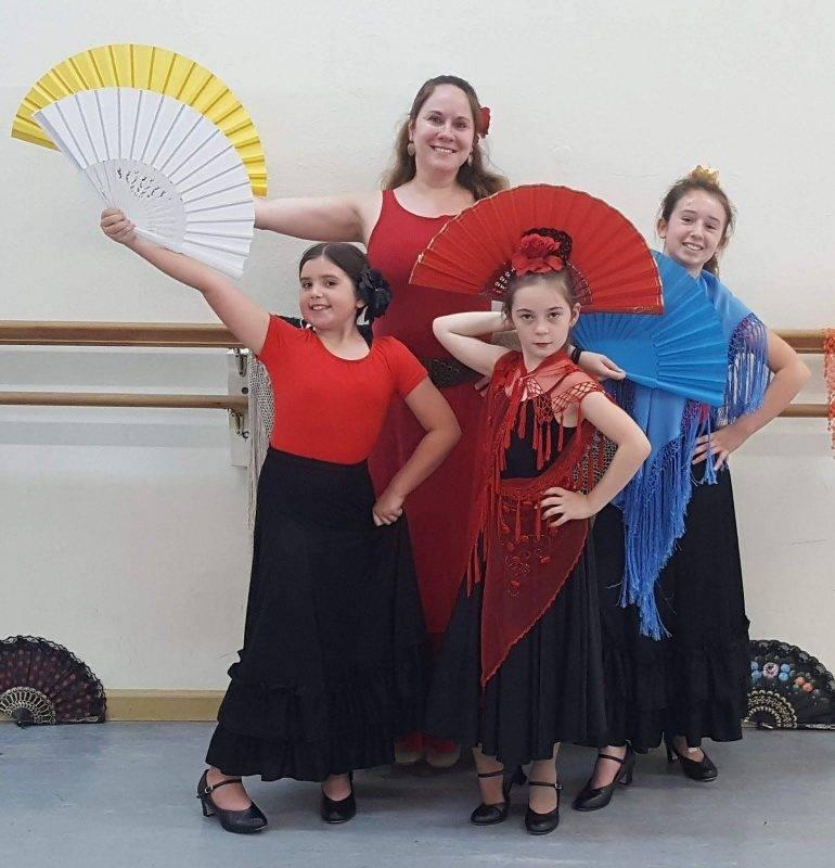 Mickey's Flamenco students